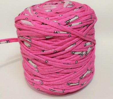 Розовая с рисунком (пестрая) / код 1012