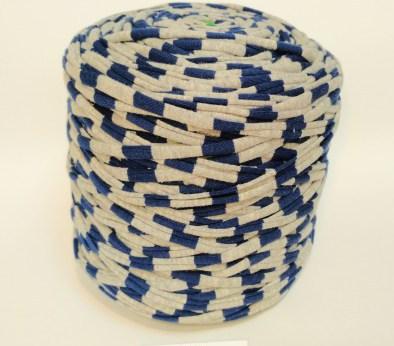 Серая - синяя (пестрая) / код 6007